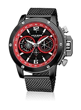 Akribos XXIV Uhr mit Schweizer Quarzuhrwerk AK515BK schwarz 50  mm