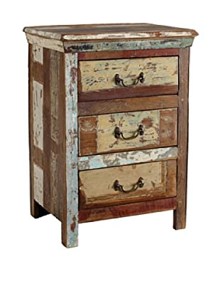 Classic Home Vintage-Inspired 3-Drawer Nightstand, Multi