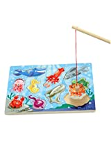 Magnetic Fishing Pole Game + FREE Melissa & Doug Scratch Art Mini-Pad Bundle [37785]