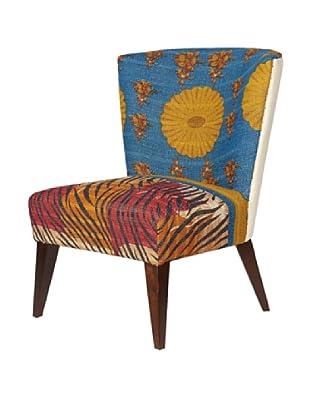 Kantha Arm Chair, Blue Multi
