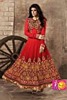 Captivating Red Color Anarkali Salwar Suit
