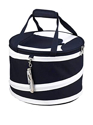 Picnic at Ascot Compact Pop-Up Cooler (Navy and White)
