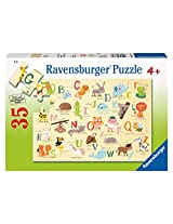 Ravensburger A-Z Animals Puzzle, Multi Color (35 Pieces)