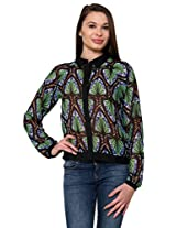 Peacock Feather Printed Top