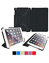 roocase iPad Mini 3 Case - Optigon 3D iPad Mini Slim Shell Case Smart Cover - with Sleep / Wake Function [Features Landscape and Typing Stand] for Apple Mini 3, 2 and 1, Black