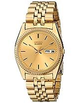 Seiko Mens SGF206 Dress Gold-Tone Watch
