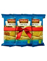 Baker Street Milk Elaichi Bread Toast Rusk 200 Gms