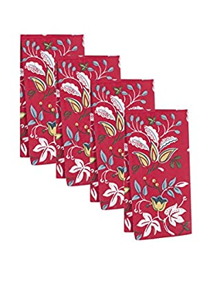 KAF Home Set of 4 Botanical Floral Print Napkins