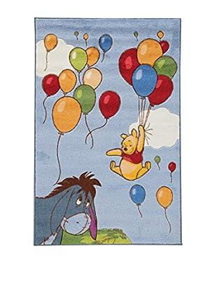 Abc Alfombra Comfort Line Winnie Balloons Celeste 133 x 190 cm