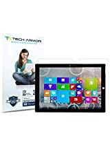 Tech Armor Microsoft Surface 3 (2015)(NOT the Surface PRO 3 12 ) High Defintion (HD) Clear Screen Protectors - Maximum Clarity and Touchscreen Accuracy [2-Pack] Lifetime Warranty