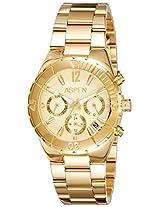 Aspen Analog Gold Dial Women's Watch - AP1890
