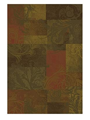 Granville Rugs Potomac Rug (Beige/Red/Gold/Brown/Green)