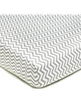 American Baby Company 100% Cotton Percale Fitted Crib Sheet, Zigzag Grey