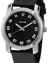 Sonata Analog Black Dial Men's Watch - NC7093SL01