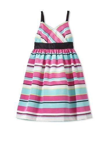 Pippa & Julie Girl's Striped Party Dress (Multi)
