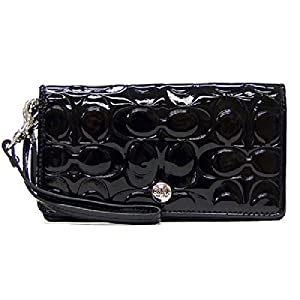 Coach Embossed Patent Leather Demi Wristlet Wallet