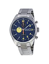 Esq By Movado Catalyst Chronograph Blue Dial Stainless Steel Bracelet Men'S Watch - Esq-07301446