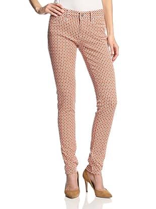 Mavi Women's Alexa Skinny Jean (Orange Square)