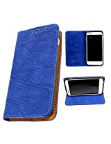 DooDa PU Leather Flip Case Cover For Micromax Canvas Doodle A111 (Blue)