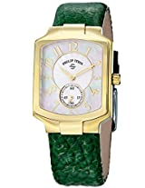 Women'S Classic Tank Mother Of Pearl Dial Green Leather (21Gpfwcgg)