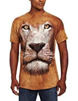 The Mountain Men's Lion Face T-Shirt, Brown, Small