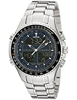 Sartego Men's SPW13 World Timer Quartz Chronograph Watch