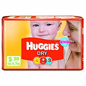Huggies Dry Diapers Small - 30 Pcs 3 - 7 Kgs