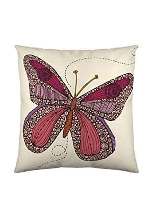 Funda de Cojín Butterfly (Blanco / Burdeos)