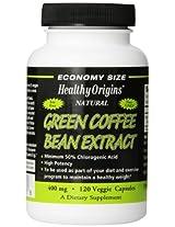 Healthy Origins Green Coffee Bean Extract 400 mg 120 Veggie Caps