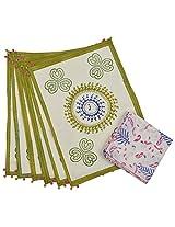 Sadna Cotton 6 Piece Mats and 6 Piece Napkins - Multicolor