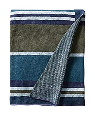bambeco Recycled Cotton Throw/Blanket, Navy