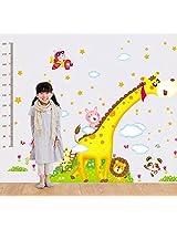 UberLyfe Giraffe and Friends Height Chart cum Wall Sticker for Kid's Room - XL