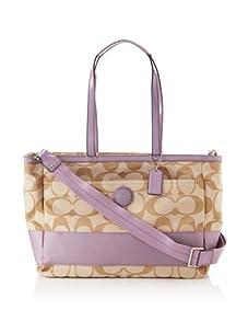Coach Signature Stripe Baby Bag, Lilac