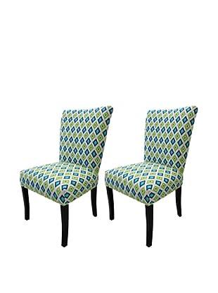Sole Designs Set of 2 Julia Carnival Sunshine Fanback Chairs