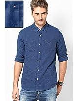 Indigo/Marsmallow Casual Shirt