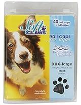 Soft Claws Dog and Cat Nail Caps Take Home Kit, Jumbo, Black
