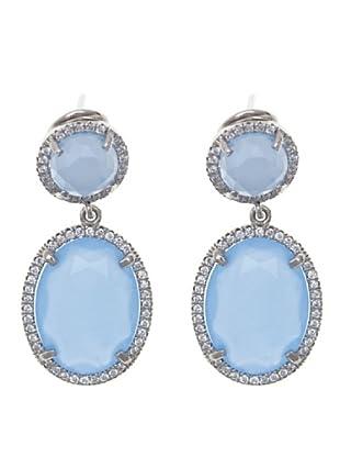 Córdoba Joyeros Pendientes Priveé Diamantado & Piedra Azul