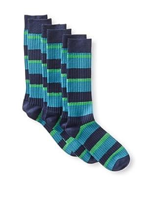 2xist Men's Weekender Basketweave Socks - 3 Pack (Black)