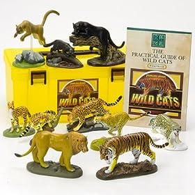 立体図鑑リアルフィギュアボックス ワイルドキャット ネコ科動物