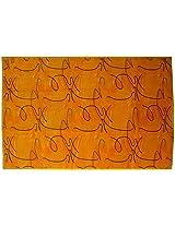Agra Dari Woolen Carpet - 60'' x 84'' x 0.4'', Yellow