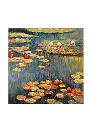 Arte Dal Mondo Pintura al Óleo sobre Lienzo Monet Ninfee