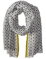 Saro Lifestyle Women's Geo Dots Design Shawl, Grey, One Size