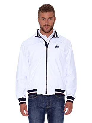 Polo Club Cazadora Micro Zipper (Blanco)