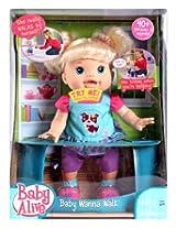 Funskool Battery Operated Baby Alive Wanna Walk Doll - 33 Cm