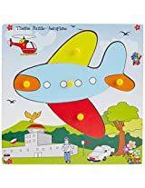 Skillofun Theme Puzzle Standard Aeroplane Knobs, Multi Color