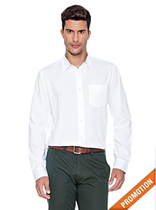 Dockers Camisa Lavada Ajustada (Blanco)