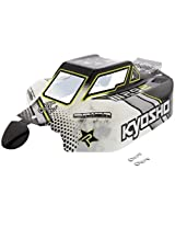 Kyosho 1/8 Inferno Mp9e Tki Rs * Black, Yellow & White Body Shell & Decals Cover