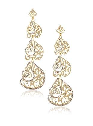 LK Designs Swirl Earrings, Gold