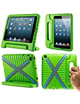 CoverBot iPad Mini Kids Case Cover with Handle Stand GREEN Made From Tough EVA Foam