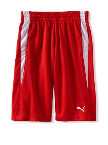 Puma Boys 8-20 Curve Short (Fiery Red)